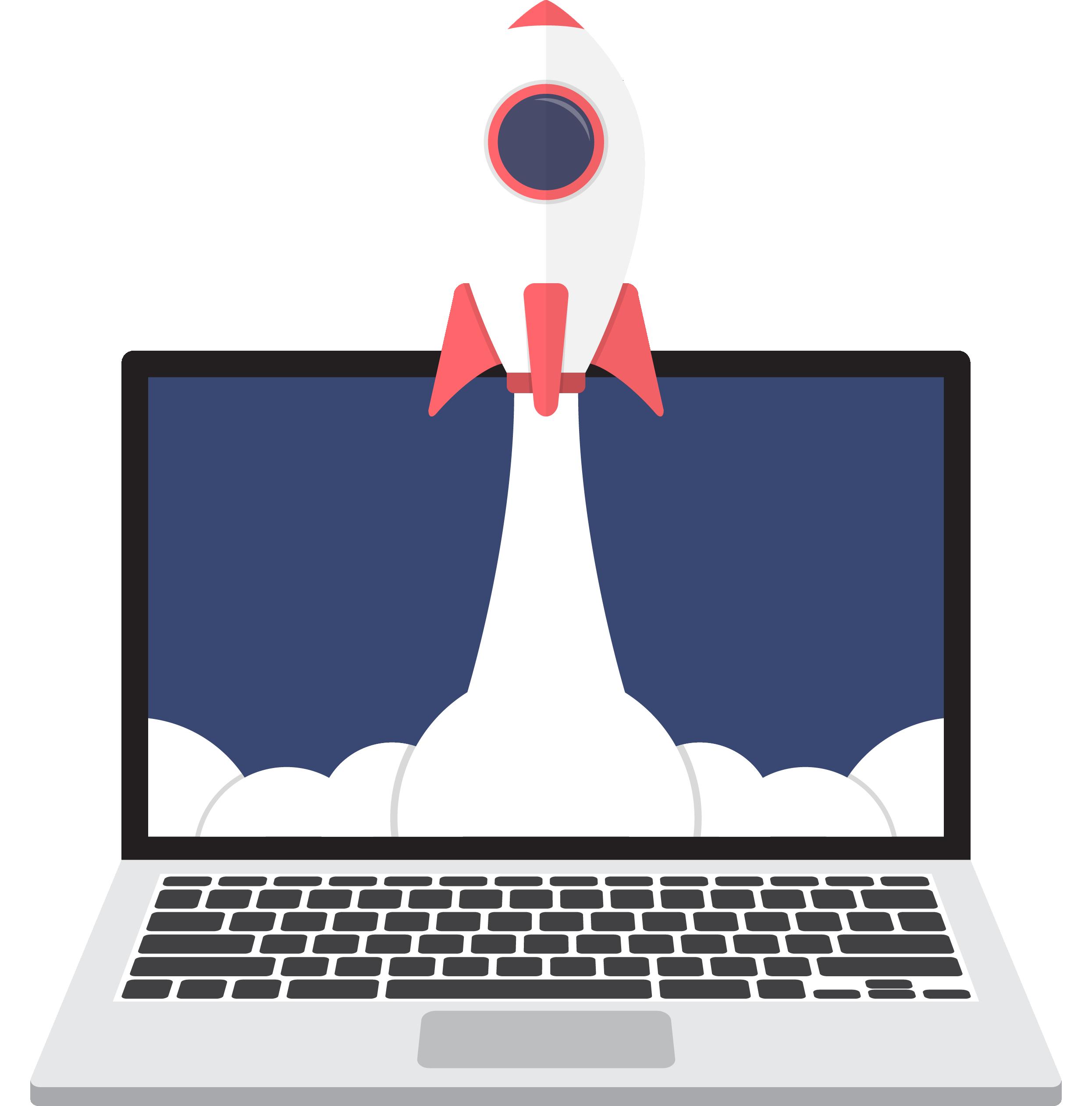 computer-rocket